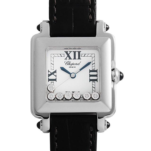 彼女へのクリスマスプレゼント 高級腕時計 ショパール ハッピースポーツスクエア 27/8325-23