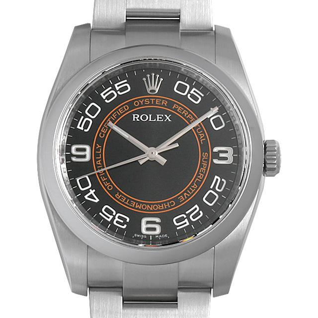 ロレックス オイスターパーペチュアル 116000 ブラック/アラビア 中古 メンズ