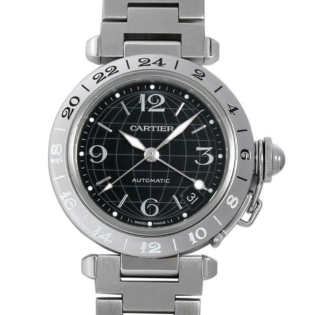 カルティエ パシャC GMT メリディアン W31079M7 中古 ボーイズ(ユニセックス)
