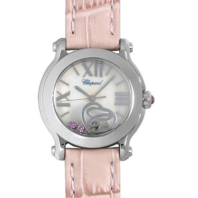 彼女へのクリスマスプレゼント 高級腕時計 ショパール ハッピースポーツ マークII 2サファイヤ ハート 27/8509-3015