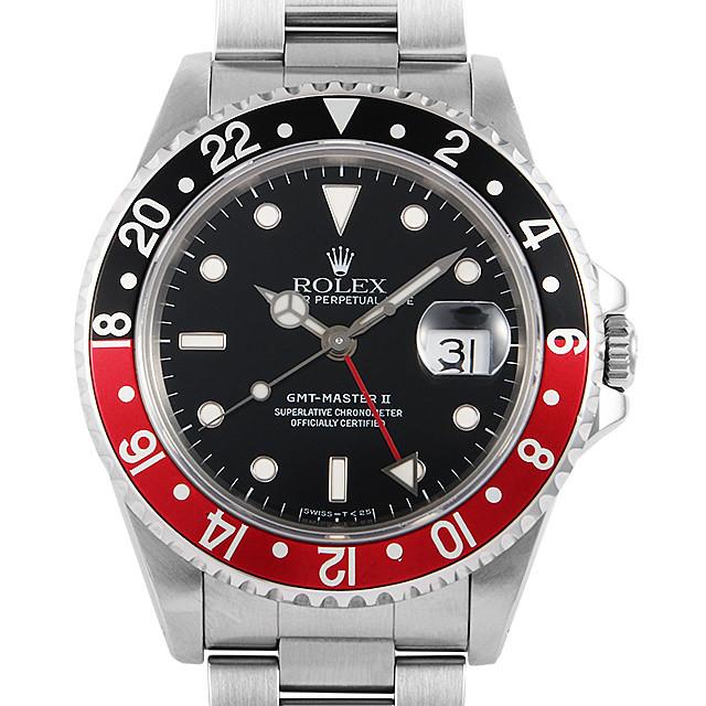 ロレックス GMTマスターII 赤黒ベゼル 16710 S番