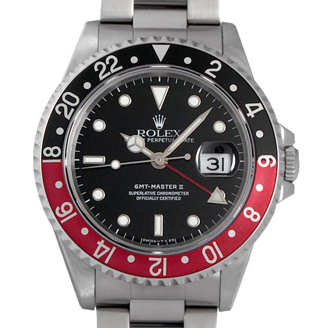 ロレックス GMTマスターII  赤黒ベゼル W番 16710 中古 メンズ
