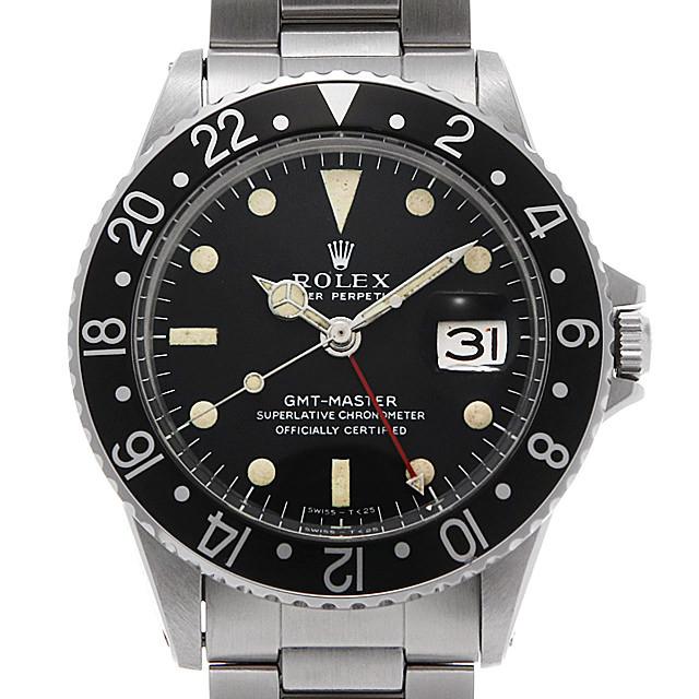 ロレックス GMTマスター 黒ベゼル 1675 ロングE/小針 16番 アンティーク メンズ