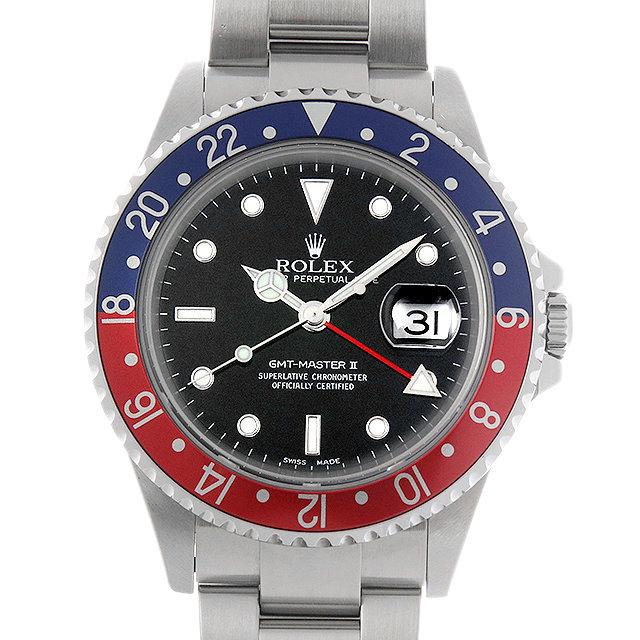 ロレックス GMTマスターII F番 16710 赤青ベゼル 中古 メンズ