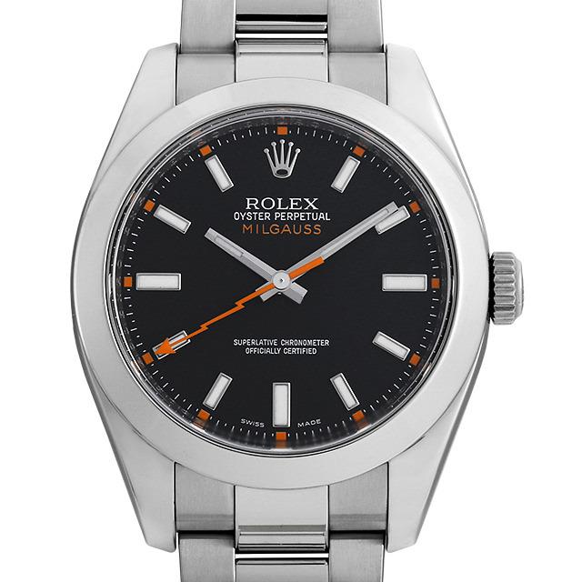 ロレックス ミルガウス 116400 ブラック V番 中古 メンズ