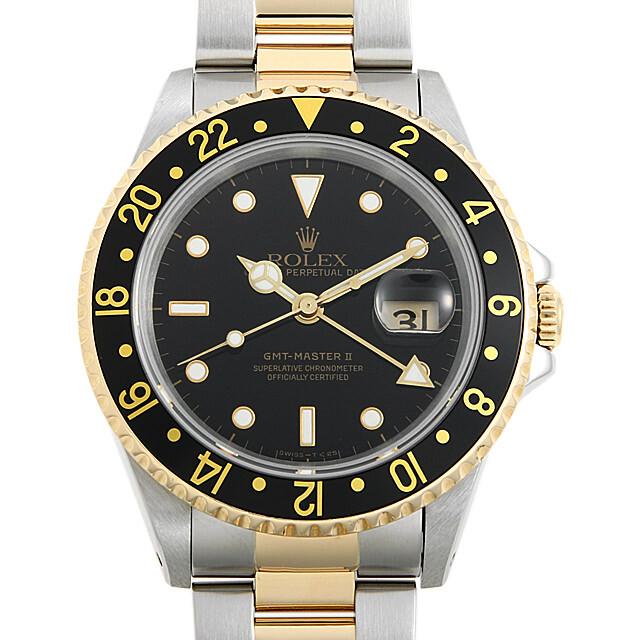 ロレックス GMTマスターII 16713 ブラック W番