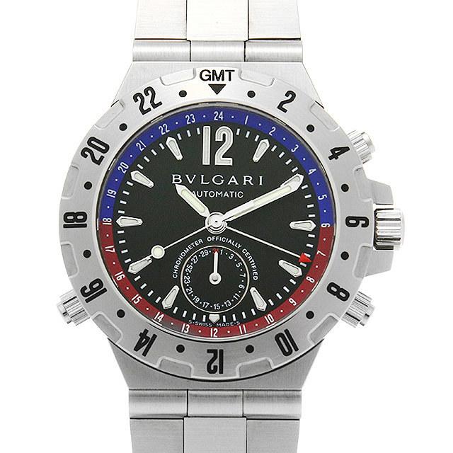 ブルガリ ディアゴノ プロフェッショナル GMT GMT40SSD 中古 メンズ