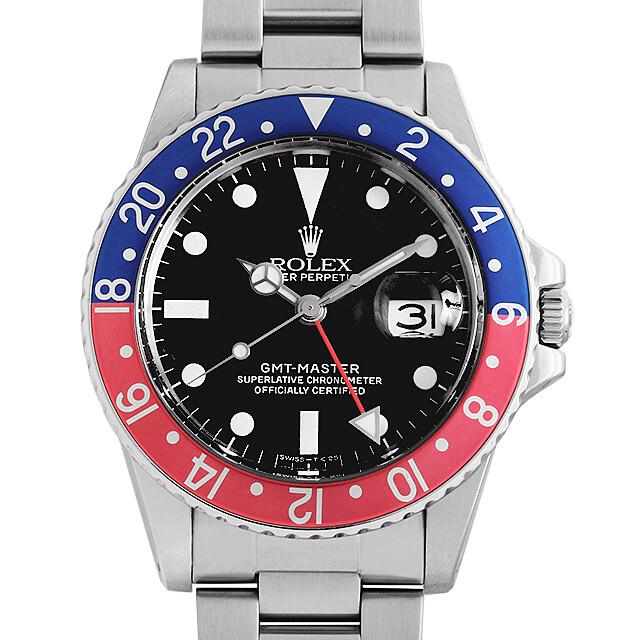 ロレックス GMTマスター 赤青ベゼル 16750 フチなし/3列/オイスターベゼル 76番