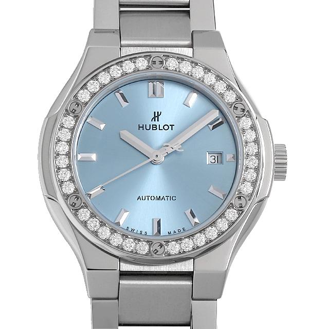 クラシックフュージョン チタニウム ライトブルー ダイヤモンド ブレスレット 585.NX.891L.NX.1204 メイン画像