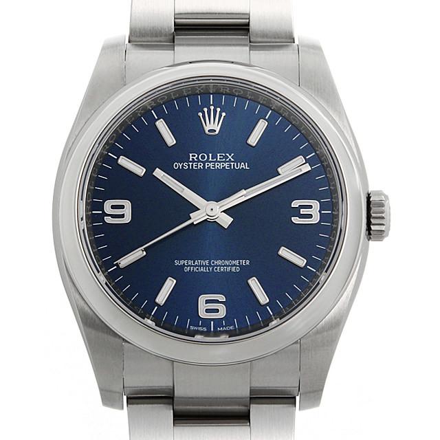 ロレックス オイスターパーペチュアル 116000 ブルー/369ホワイトバー ランダムシリアル 中古 メンズ