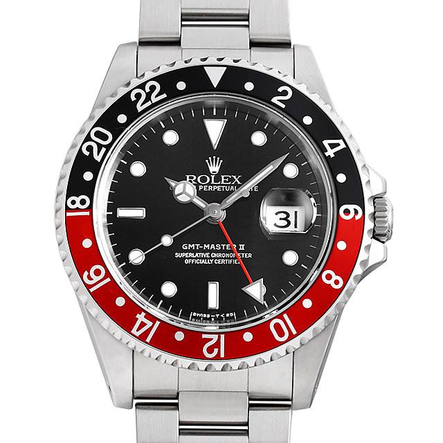 ロレックス GMTマスターII 赤黒ベゼル 16710 U番 中古 メンズ