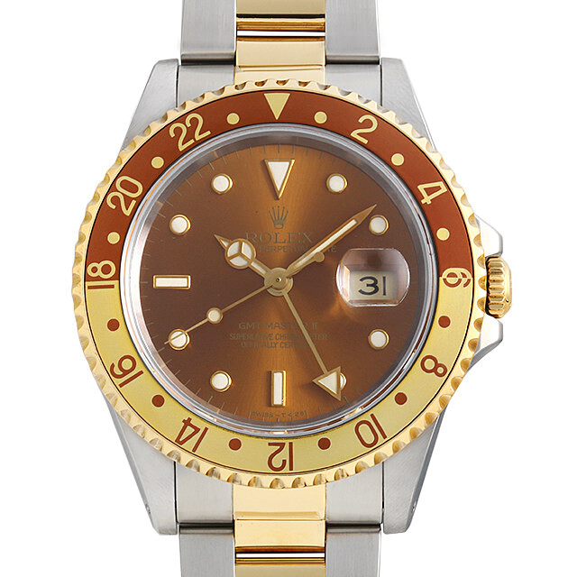 ロレックス GMTマスターII 16713 ブラウン/3列/オイスターブレス S番