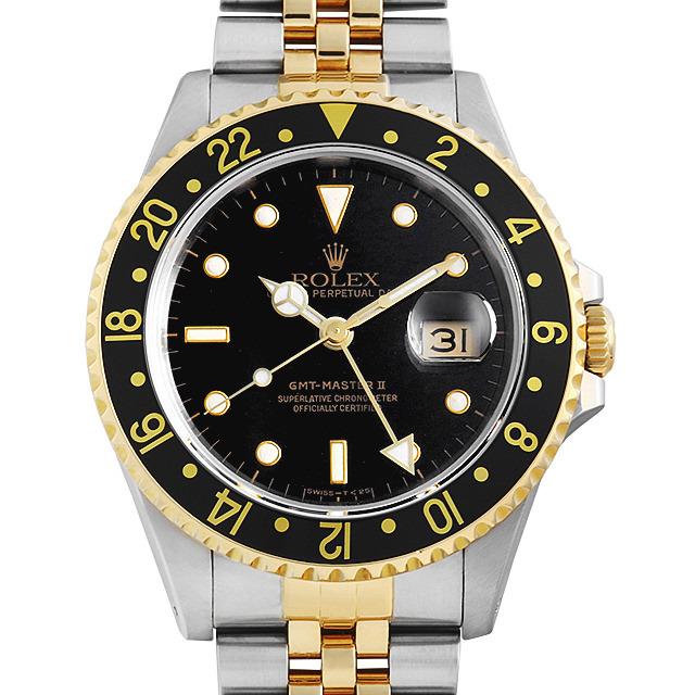 ロレックス GMTマスターII 16713 ブラック/5列/ジュビリーブレス L番 中古 メンズ
