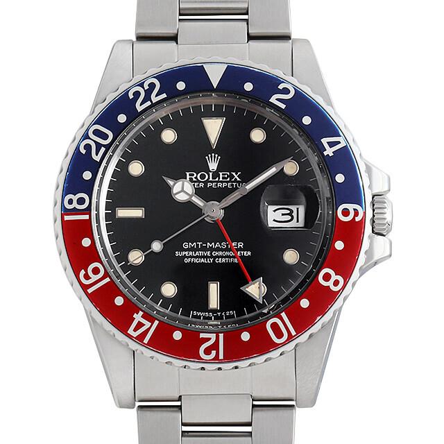 ロレックス GMTマスター 赤青ベゼル 16750 フチあり 83番