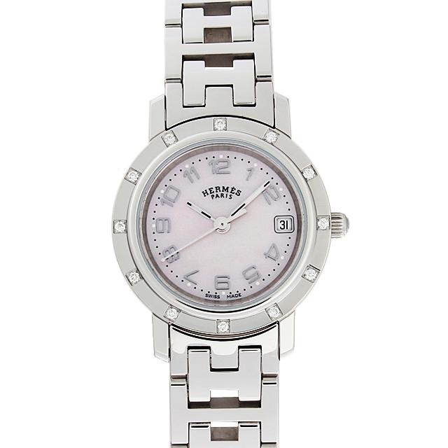 彼女へのクリスマスプレゼント 高級腕時計 エルメス クリッパー ナクレ CL4.230