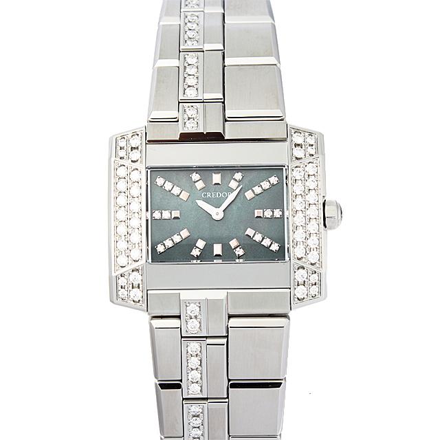 彼女へのクリスマスプレゼント 高級腕時計 セイコー クレドール ノードJ サイドダイヤ GSTE893