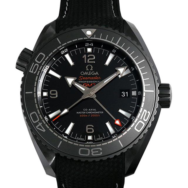 シーマスター プラネットオーシャン 600M コーアクシャル マスタークロノメーター GMT ディープブラック 215.92.46.22.01.001 メイン画像
