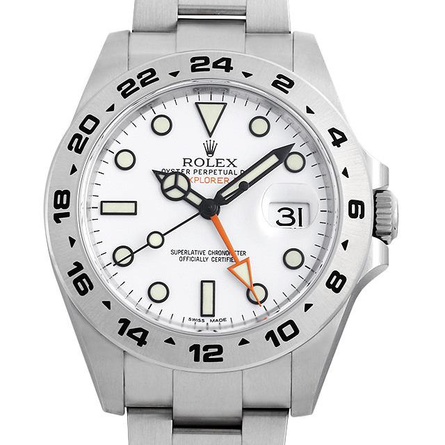ロレックス エクスプローラーII 216570 ホワイト 新品 メンズ