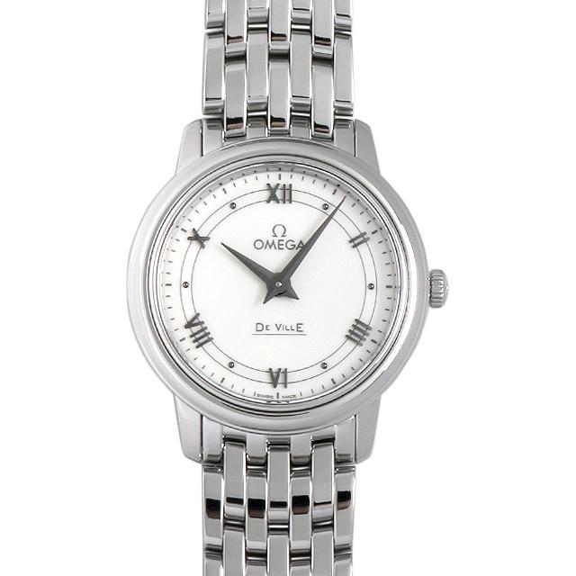 彼女へのクリスマスプレゼント 高級腕時計 オメガ デ・ヴィル プレステージ 424.10.27.60.04.001