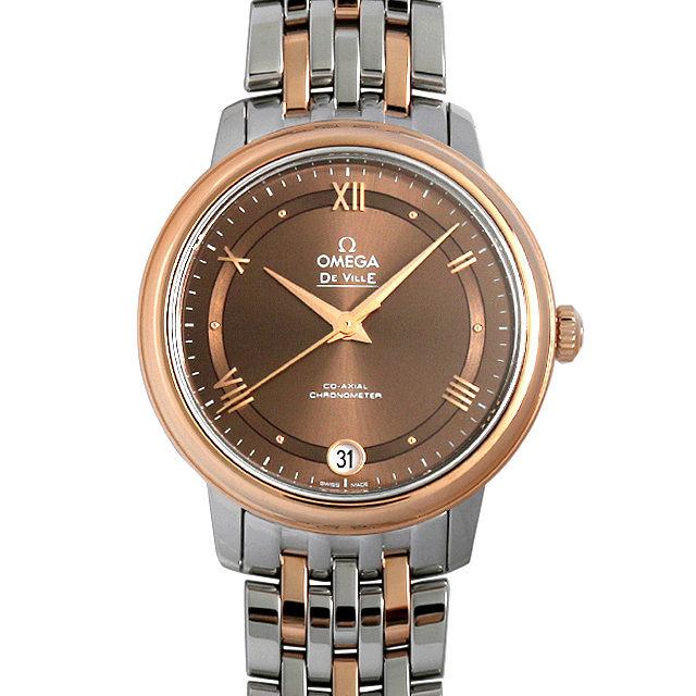 彼女へのクリスマスプレゼント 高級腕時計 オメガ デ・ヴィル プレステージ コーアクシャル 424.20.33.20.13.001