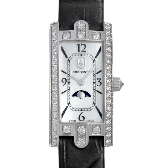 彼女へのクリスマスプレゼント 高級腕時計 ハリーウィンストン アヴェニューC ミニ ムーンフェイズ AVCQMP16WW001
