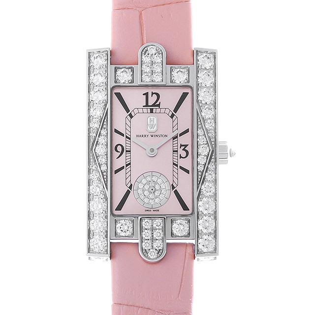 彼女へのクリスマスプレゼント 高級腕時計 ハリーウィンストン アヴェニュー クラシック ピンク AVEQHM21WW289