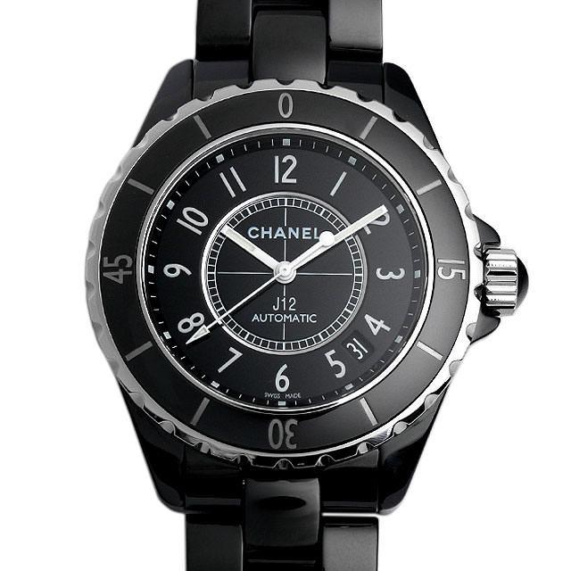 彼氏へのクリスマスプレゼント 高級腕時計 シャネル J12 黒セラミック H0685