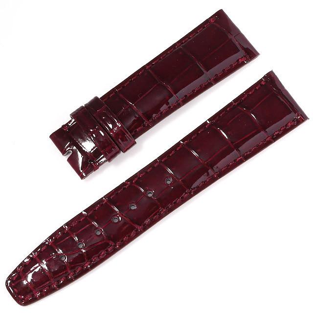RASINオリジナル IWC ポルトギーゼ 尾錠用革ベルト クロコダイル 裏ラバーコーティング 艶有り ボルドー 20mm-18mm IWPGAB2018 新品