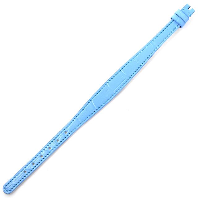 RASINオリジナル ロレックス カメレオン用革ベルト カーフ型押し 青/ブルー 12mm-8mm RXCLCF 新品