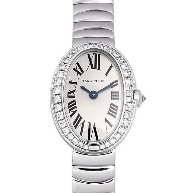 彼女へのクリスマスプレゼント 高級腕時計 カルティエ ミニベニュワール ベゼルダイヤ WB520025
