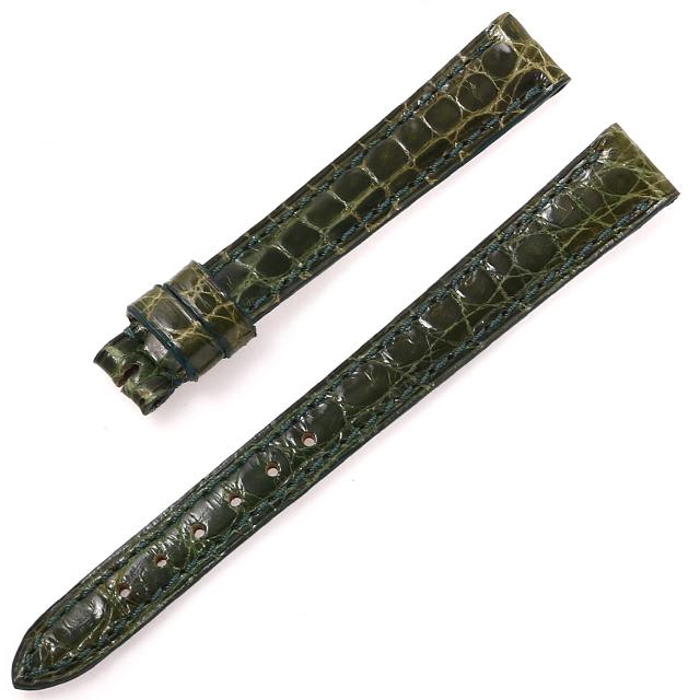 カミーユフォルネ 尾錠用革ベルト クロコダイル グリーン 12mm-10mm 未使用 WEB限定品