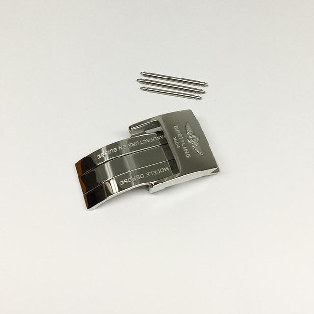 ブライトリング 純正Dバックル革ベルト ステンレススティール 20mm 未使用 WEB限定品