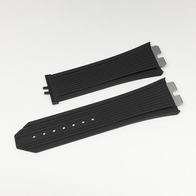 SALE ウブロ ウニコ 411系用純正ロングサイズ革ベルト ラバー 黒/ブラック 未使用 WEB限定品