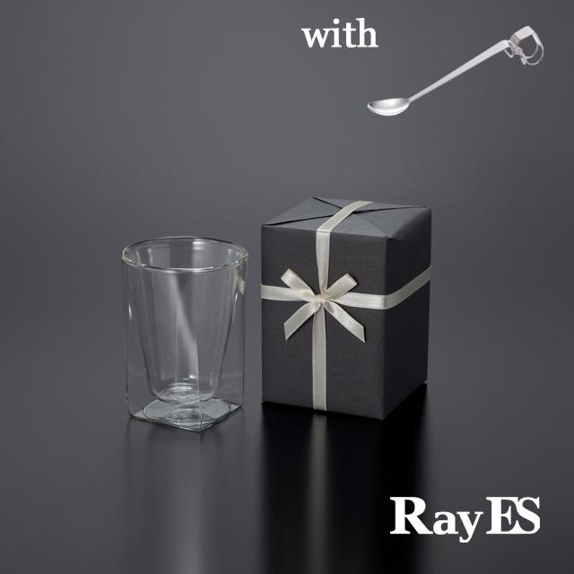 ダブルウォールグラスRayESレイエスのギフト グラス セット ロックグラス スプーン