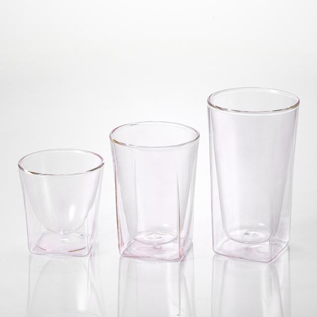ミスト ピンク pink カラー シリーズ color series rayes レイエス ダブルウォールグラス