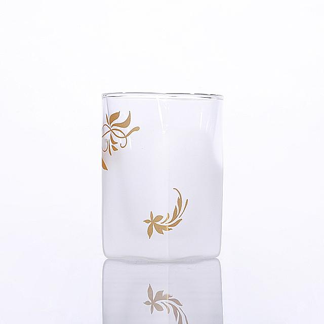 フロスト ゴールド 002 リーフ デザイン カラー rayes レイエス スクエア ダブルウォールグラス