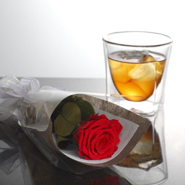 バラ ローズ bara rose プリザーブド フラワー ギフト rayes レイエスダブルウォールグラス