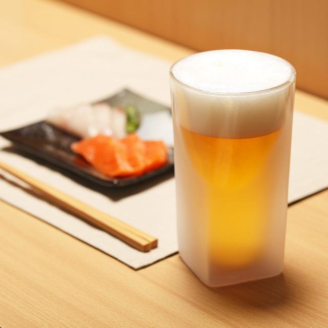 刺身 小料理 ビール 泡 立つ フロスト rayes レイエス ダブルウォールグラス