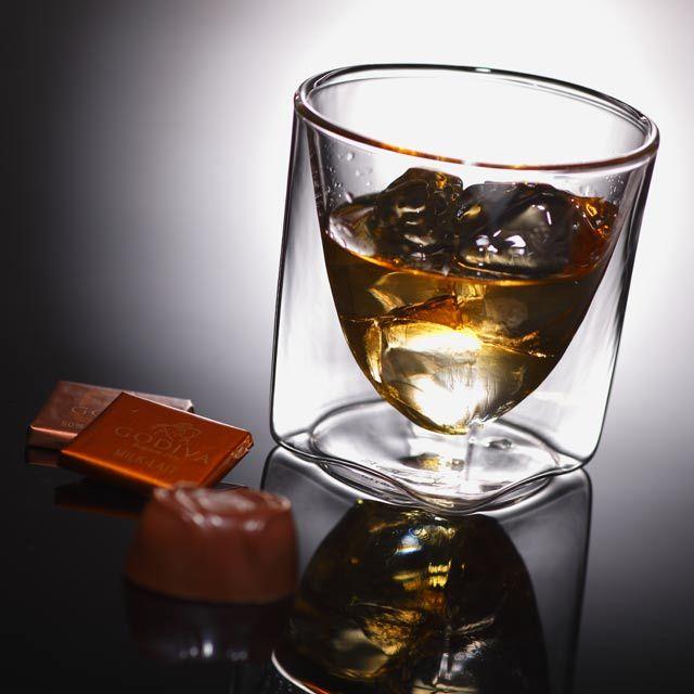 チョコレート ゴディバ ウィスキー GODIVA rayes レイエスダブルウォールグラス