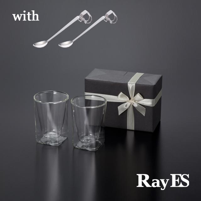 クリップ式チタンスプーンギフト RayES/レイエスダブルウォールグラス