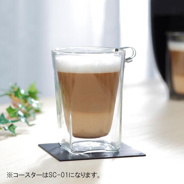 コーヒー ネスカフェ カプチーノ カフェオレ 珈琲 rayes レイエスダブルウォールグラス