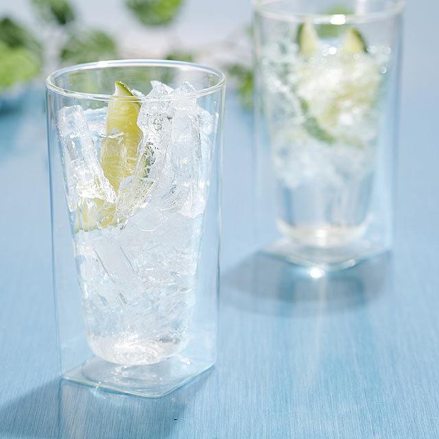 ジンライム クラッシュアイスメーカー 製氷皿 トレー rayes レイエス ダブルウォールグラス