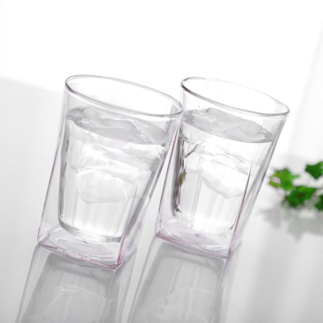 イメージ ペア ミスト ピンク pink カラー シリーズ color series rayes レイエス ダブルウォールグラス