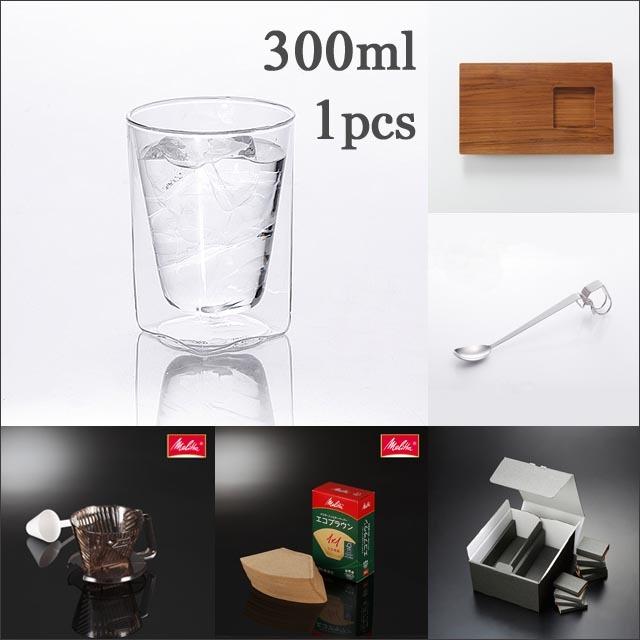 カフェ コーヒー プレート メリタ スプーン ギフト セット rayes レイエス スクエア ダブルウォールグラス