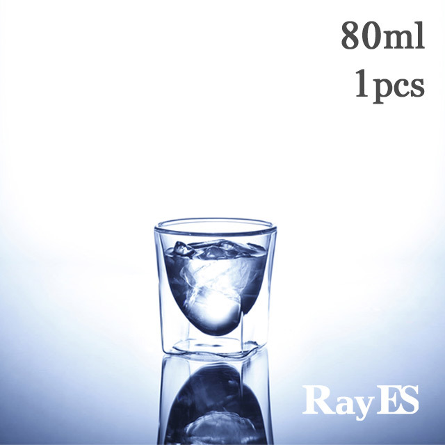 エスプレッソ 冷酒 枡酒 テキーラ ショットグラス rayes レイエス ダブルウォールグラス