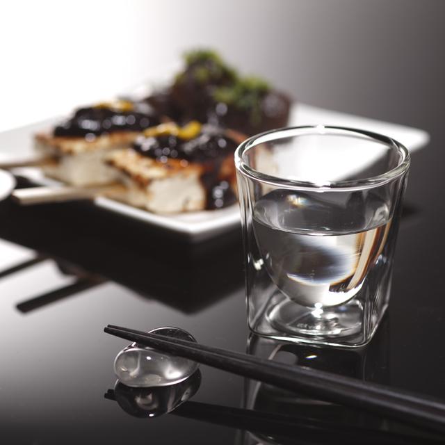 八丁味噌 みそ 田楽 日本酒 冷酒 rayes レイエスダブルウォールグラス