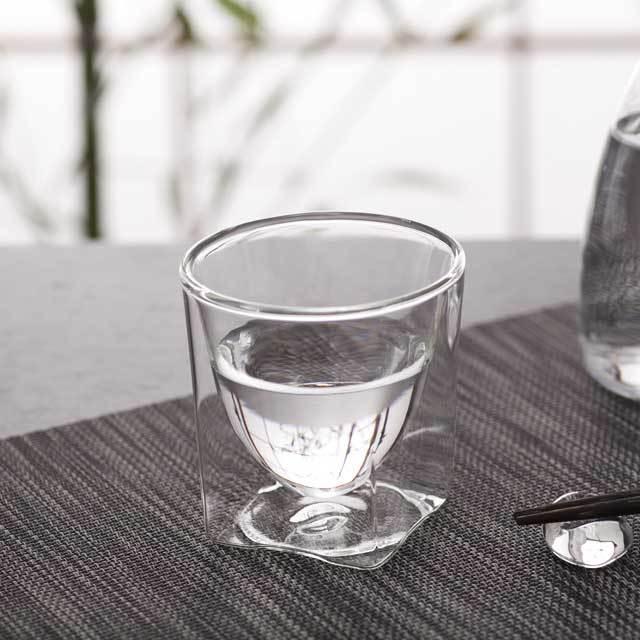 日本酒 sake 冷酒 熱燗 rayes レイエスダブルウォールグラス