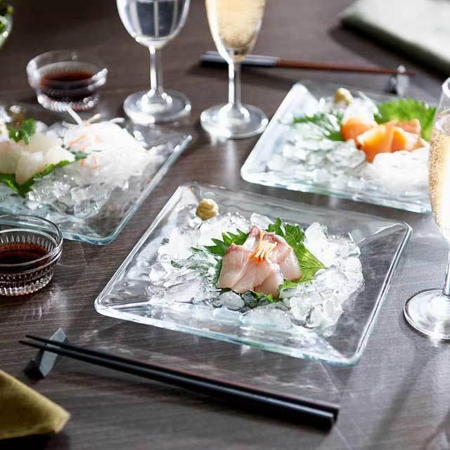 刺身 クラッシュアイスメーカー 製氷皿 トレー rayes レイエス ダブルウォールグラス