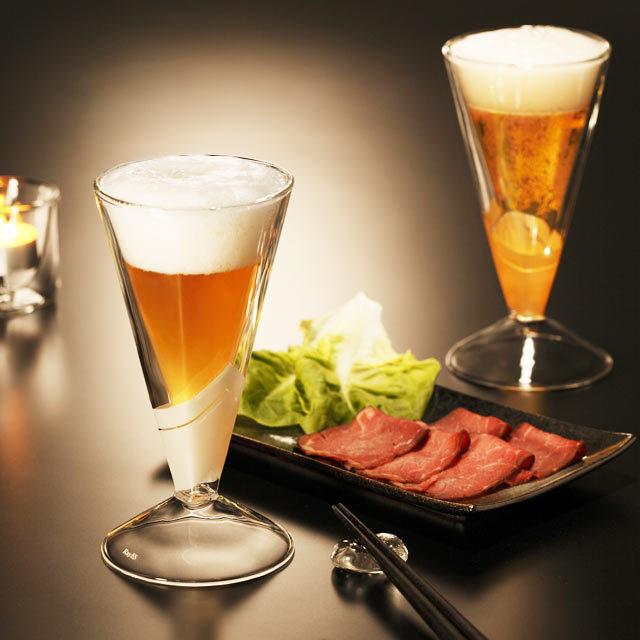 ディナー ビール シャンパン 斜光 SHAKO  rayes レイエス スクエア ダブルウォールグラス