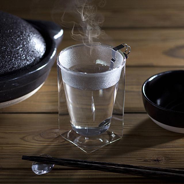 クリップ式チタンスプーン 酒 焼酎 rayes レイエスダブルウォールグラス